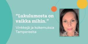 Minna Huhdanmäki kertoo Lukulumo-kokemuksista ja työskentelystä vasun kanssa
