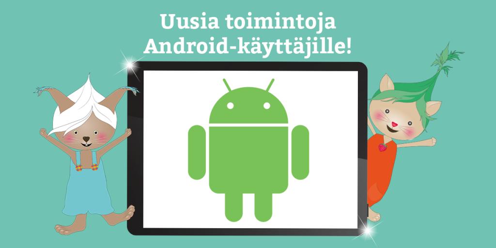 Lukulumo Android uudet toiminnot