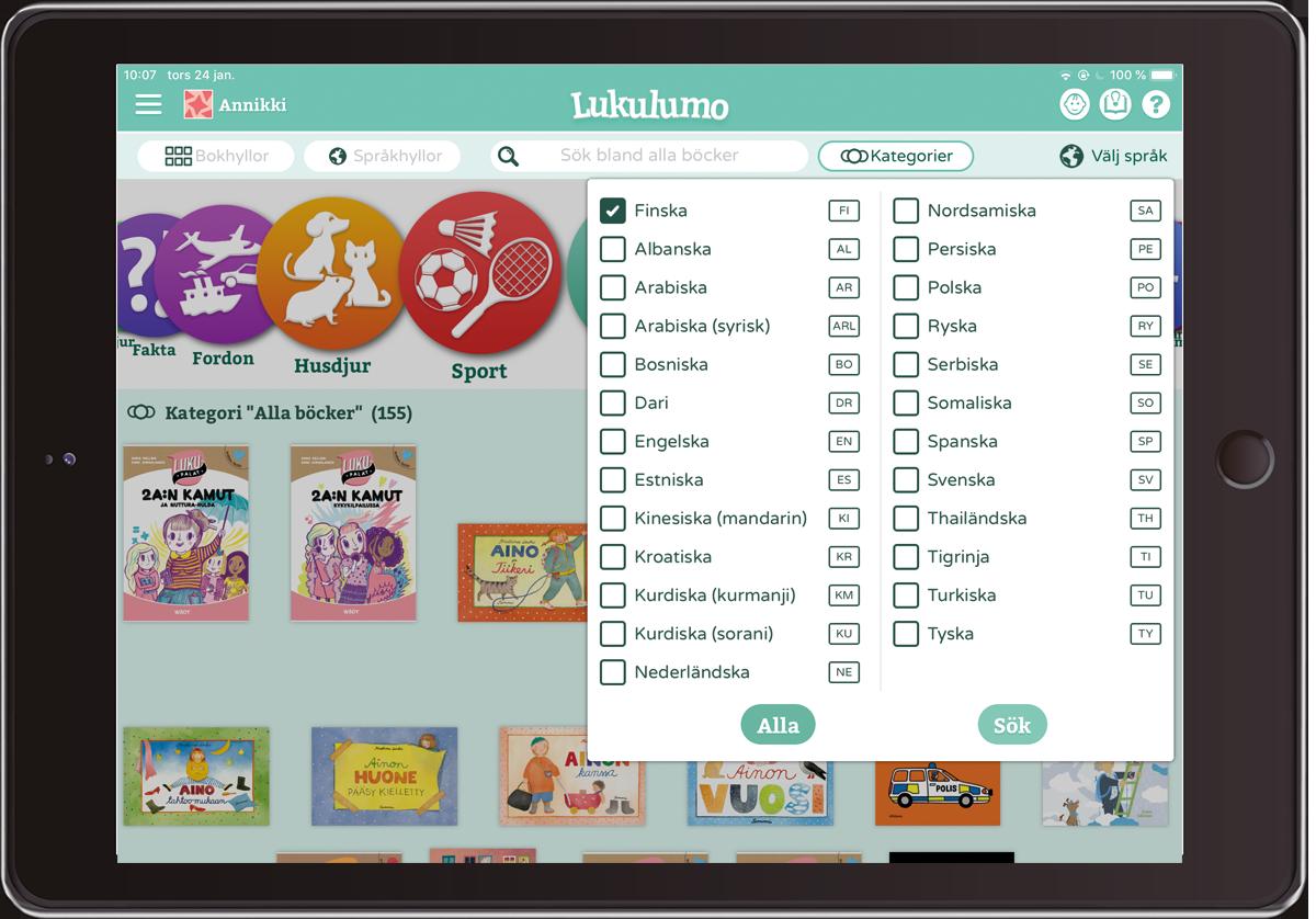 Lukulumo - bilderböcker inlästa på upp till 25 olika språk!