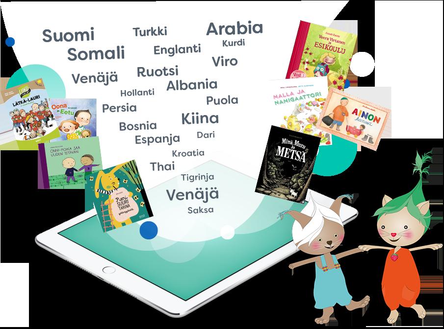Lukulumo monikielisiä kirjoja digitaalisessa muodossa