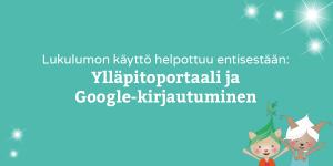 Lukulumo ylläpitoportaali googlekirjautuminen