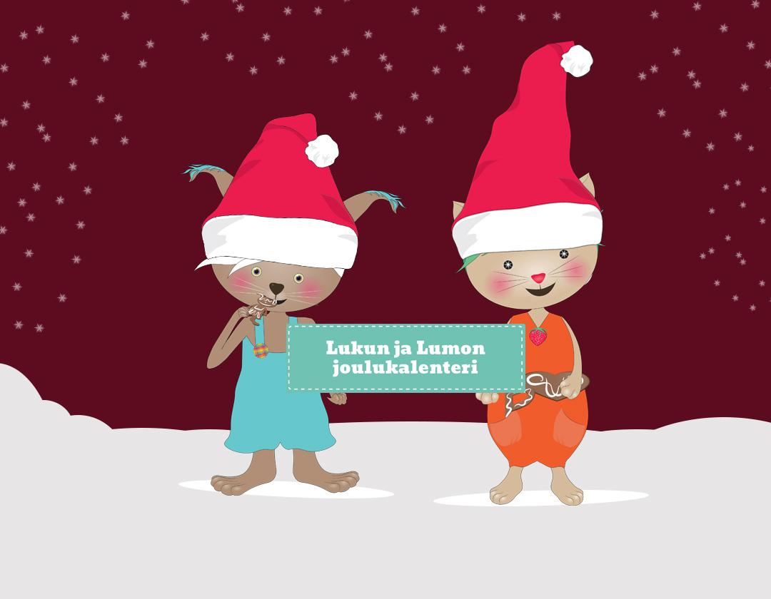 Lukun ja Lumon taianomainen joulukalenteri päiväkotiin, esikouluun ja alakouluun!